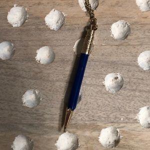 Kate spade blue pencil necklace